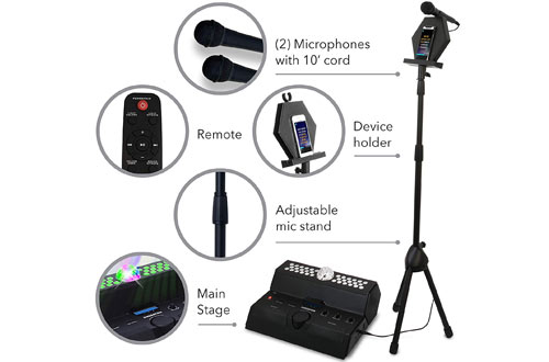 Singsation Karaoke Machine – Mainstage All-In-One Premium Karaoke Party System