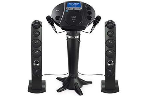 Singing Machine Ism1030BT Pedestal Bluetooth Karaoke Machine