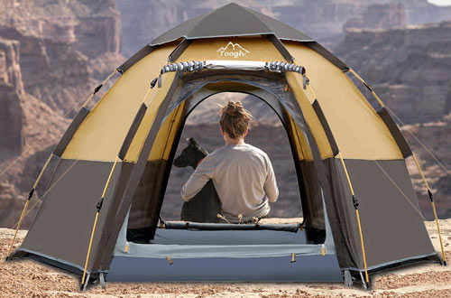 Tough 3-4 Person Pop up Camping Backpacking Tents