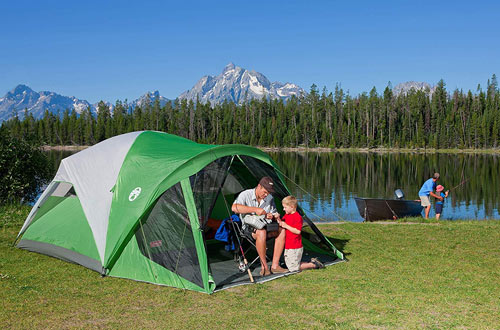 Coleman Dome Family Tent for Camping with Screen Room
