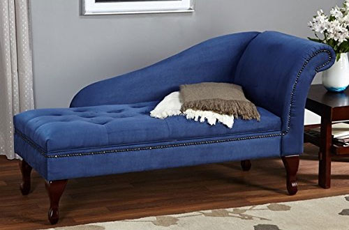 Blue Chaise Lounge Chair Sofa Loveseat for Living Room or Bedroom