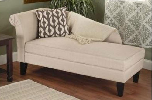 Simple Living Storage Chaise Lounge Sofa Chair for  Bedroom/Living Room