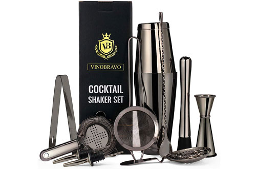 Bartender Kit Boston Cocktail Shaker Bar Set