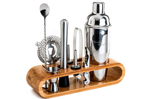 Mixology & Craft Perfect Home Bartending Kit and Cocktail Shaker Set