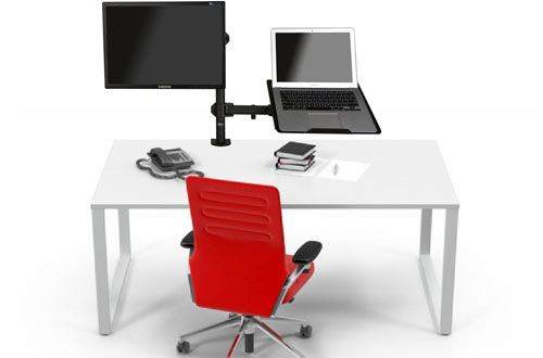 WALI Single Fully Adjustable LCD Monitor Desk Stand