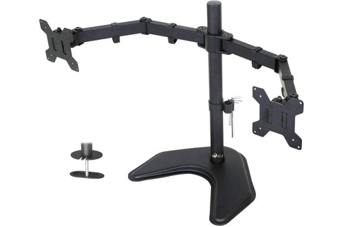 WALI Free Standing Dual LCD Monitor Fully Adjustable Desk Mounts