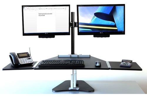 Dual Monitor Stand – Adjustable LCD Monitor Stand for Office, Studio and Home