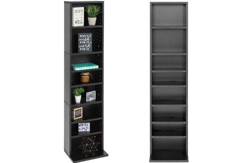 Tier Media Console Shelf Storage Organization Cabinet for CDs, DVDs, Video Games