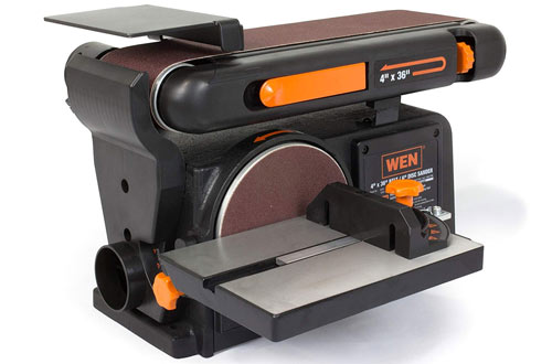 "WEN 6502T 4.3 amp 4 x36"" Belt and Disc Sander with Cast Iron Base"