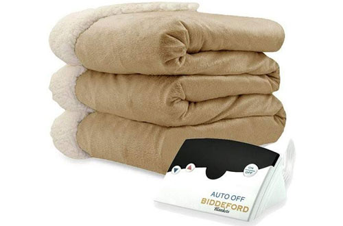 Biddeford Twin Electric Heated Micro Mink Blanket