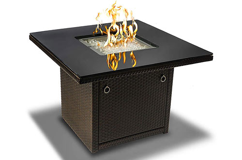 Outdoor Living Brown Outdoor Propane Gas Fire Pit Table