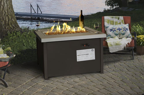 Barton Outdoor Patio Garden Flame Propane Gas Fire Pit