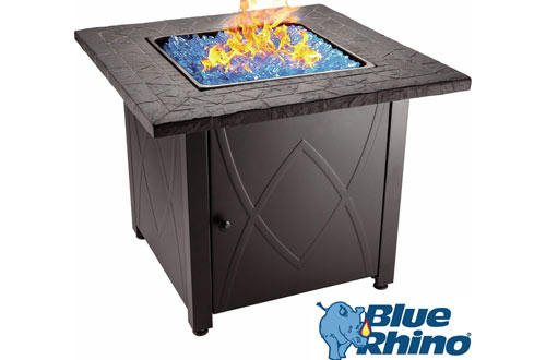 Blue Rhino Outdoor Blue Fireglass Propane Gas Fire Pit