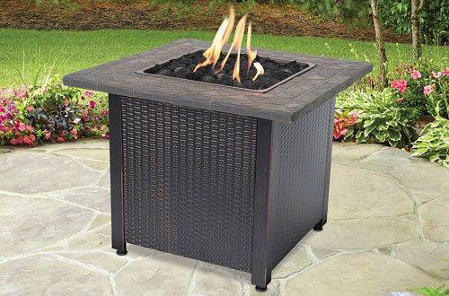 Endless Summer WAD997S GAD1401M LP Brown Gas Outdoor Fireplace