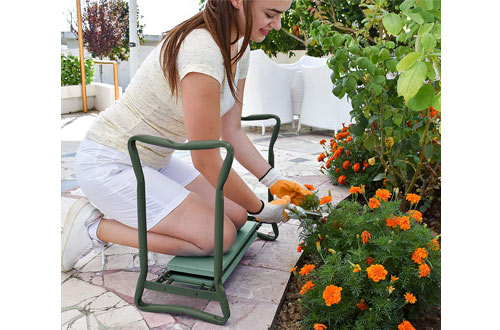 Garden Kneeler and Seat - Foldable Stool For Ease Of Storage