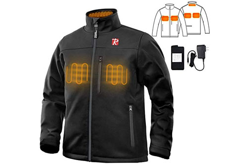 Men's Battery Heated Jacket with 5 Heated Zone