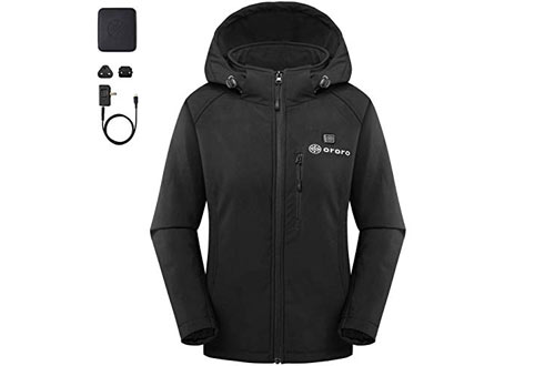 Smarkey Cordless Heated Jacket Carbon Fiber Amazon Com >> Top 10 Best Battery Heated Jackets For Men Women Reviews In 2019