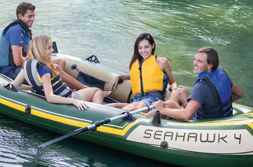 Intex Seahawk 4-Person Inflatable Boat Set