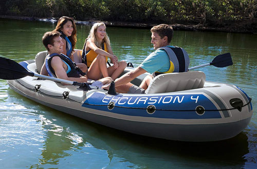 Intex Excursion 4-Person Inflatable Boat Set