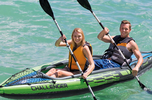Intex Challenger K2 2-Person Inflatable Kayak Set with Aluminum Oars