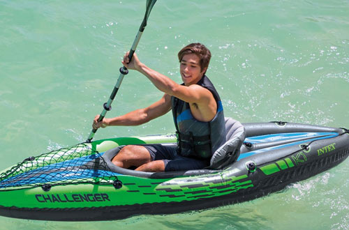 Intex Challenger K1 1-Person Inflatable Kayak Set with Aluminum Oars