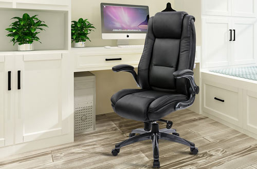 KADIRYA Leather Executive Office Chair & Adjustable Recline Chair