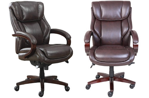 La-Z-Boy Bellamy Coffee Brown Executive Leather Office Chair