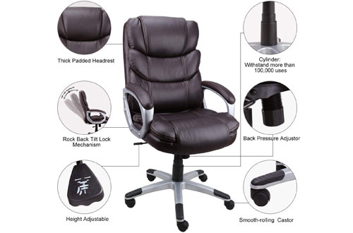 Becozier Leather Ergonomic, Executive Office Chair for Home & Office