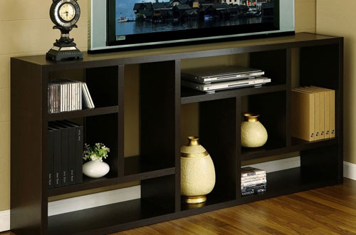 TV Stand Is Great Display Cabinet and Bookshelf in Home Office