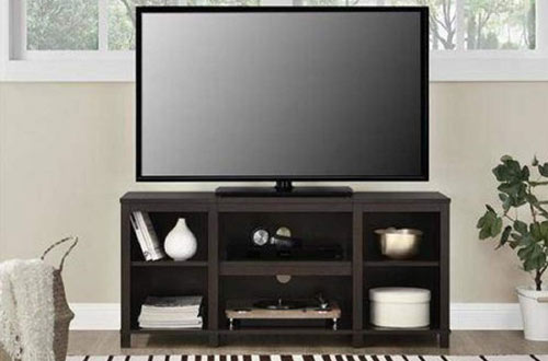 Mainstay Parsons Cubby TV Stand Holds Up to a 50-inch TV