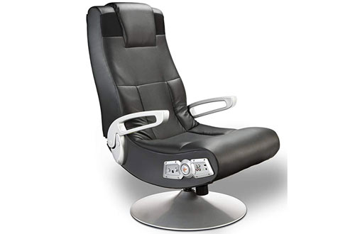 Ace Bayou X Rocker 5127401 Black Pedestal Video Gaming Chair