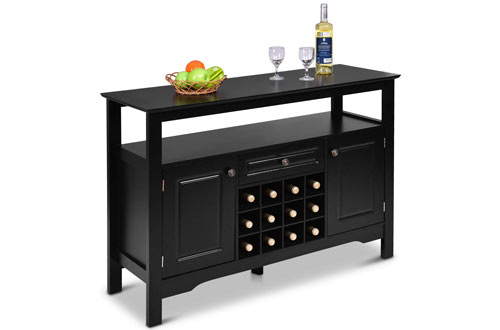 Giantex Buffet Server Wood Wine Cabinet with Rack