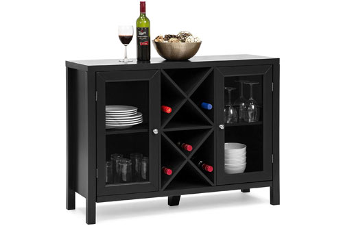 Best Wooden Wine Rack Console Sideboard Table with Storage