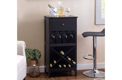 2L Lifestyle Paxton Large Espresso Bar Wine Cabinet