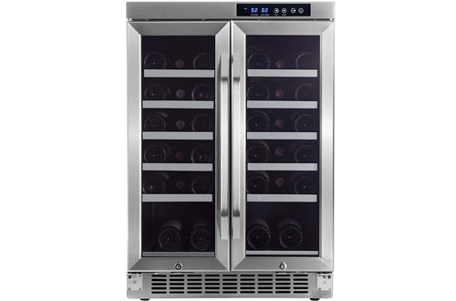 EdgeStar CWR361FD Built-in Wine Bottle Cooler with Dual Cooling