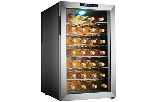 Electro Boss Thermoelectric Wine Cooler Stainless Steel Refrigerator
