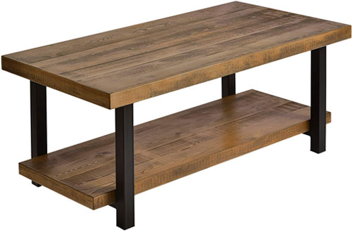 Harper & Bright Designs Hillside Rustic Reclaimed Wood Coffee Table