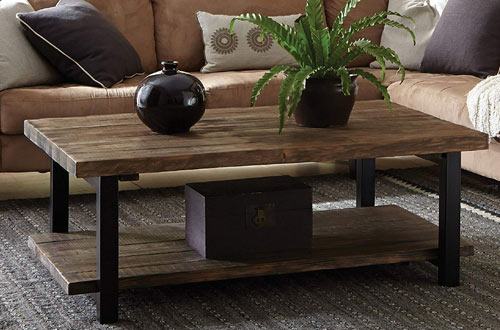 Alaterre Sonoma Rustic Natural Wood Coffee Table