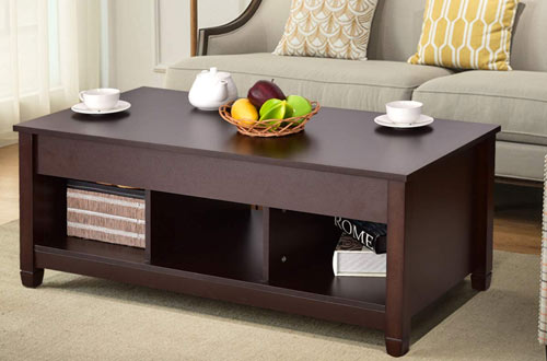 Tangkula Modern Wood Lift Top Coffee Table