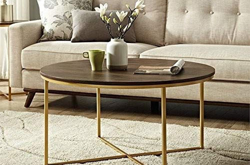 WE Furniture AZF36ALCTDWG Dark Walnut Wood Coffee Table