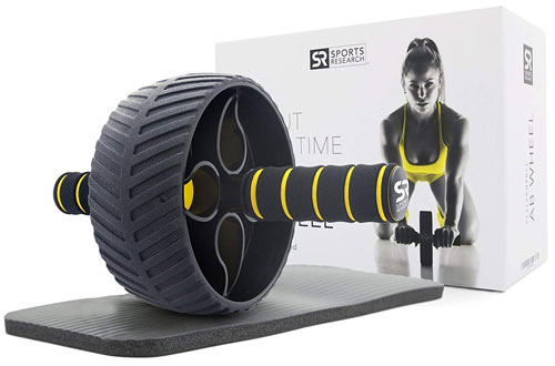 Sports Research Ab Wheel - Abdominal Exercise Wheel for Core Strength Training