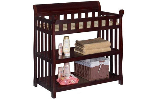 Delta Children Eclipse Black Cherry Diaper Changing Table