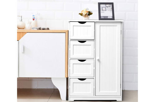 Giantex Wooden Bathroom Floor Cabinet