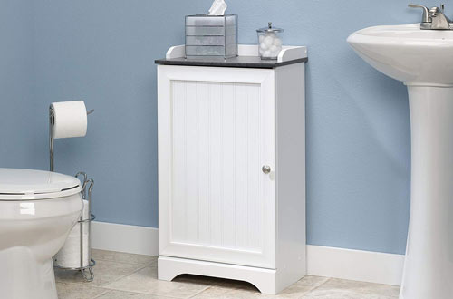 Sauder 414032 Caraway Soft White finish Floor Cabinet