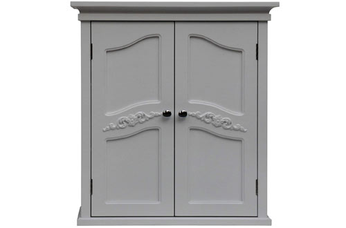 Elegant Home Fashion Vera 2-Door Wall Cabinet White