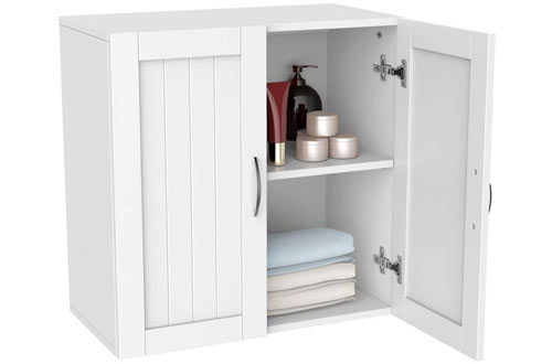 Topeakmart Kitchen 2 Door Wall Mount Cabinet for Bathroom