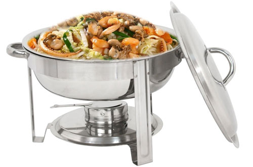 Super Deal Stainless Steel Round Rectangular Chafing Dishes