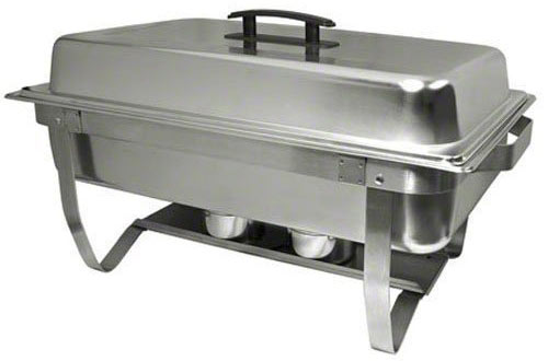 Update International ESFC-21 Mirror Polish Rectangular Chafer with Stand