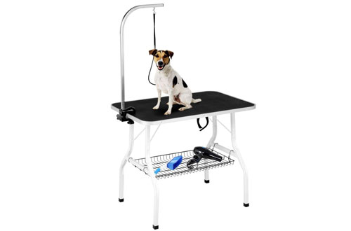 Yaheetech Pet Dog/Cat Grooming Table Foldable Height Adjustable