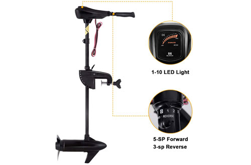 Goplus LBS Thrust Transom Mounted Electric Trolling Motor